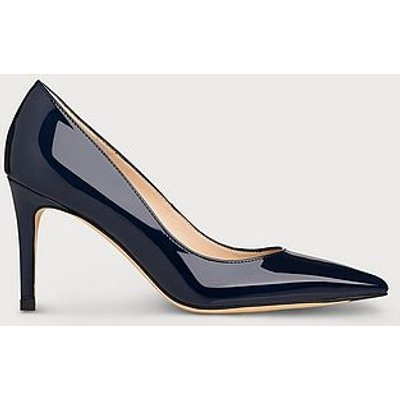 Floret Navy Patent Pointed Toe Courts