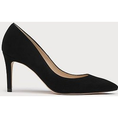 Floret Black Suede Wide Fit Courts