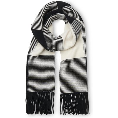 Tone Black White Merino Scarves