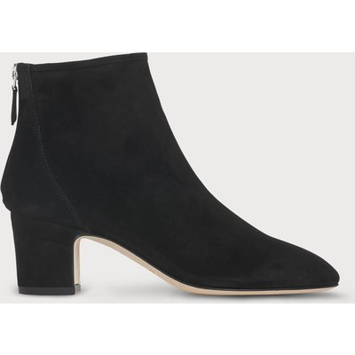 Alyss Black Suede Ankle Boots