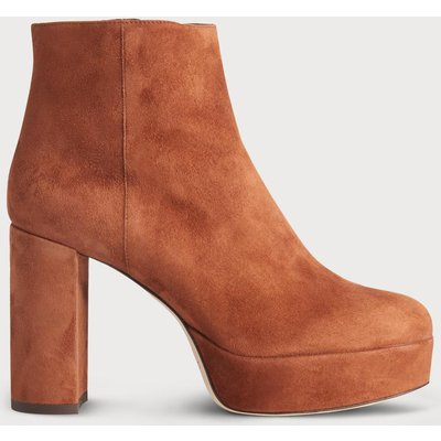 Katelyn Brown Suede Ankle Boots