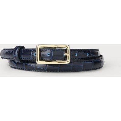 Glenda Navy Croc Effect Belt