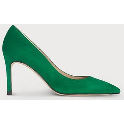 Floret Green Suede Pointed Toe Courts