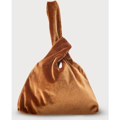 Taylor Bronze Velvet Bag