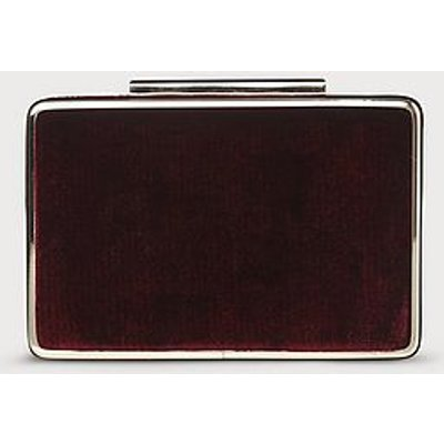 Nina Wine Velvet Clutch Bag, Black Raspberry