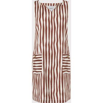 Annelin White Brown Dress