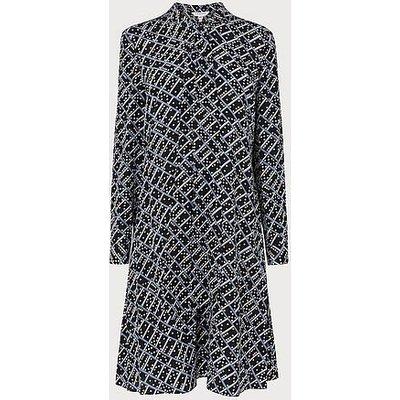 Lotte Black Silk Dress, Black