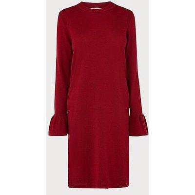 Pierina Wine Merino Dress, Burgundy
