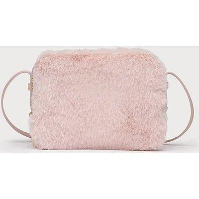 Mariel Pink Faux Fur Shoulder Bag, Pink