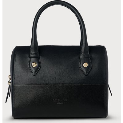 Melanie Blue Black Leather Shoulder Bag