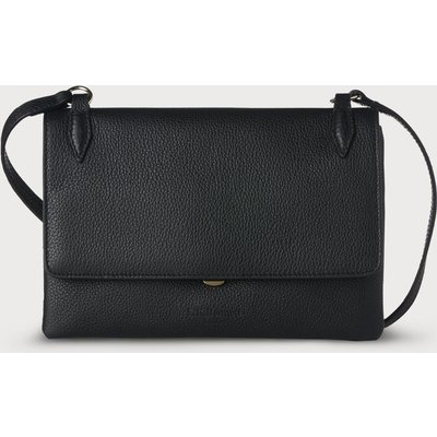 Patricia Black Leather Shoulder Bag