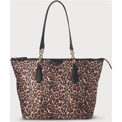 Brooke Animal Print Tote Bag, Neutral Leopard