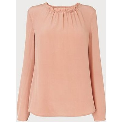 Gill Pink Silk Blouse, Dusky Pink