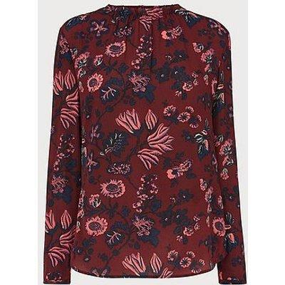 Julisa Red Silk Blouse, Red Multi