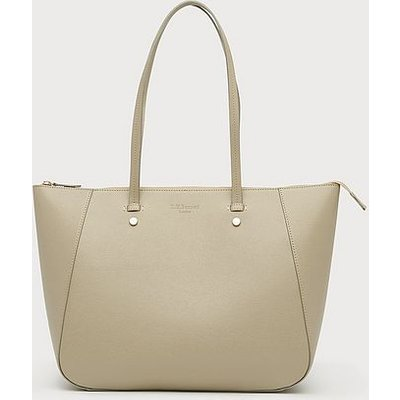 Marcia Putty Leather Tote Bag, Putty