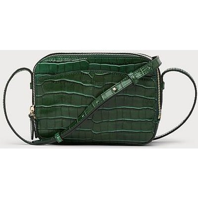 Mariel Green Croc Effect Shoulder Bag, Forest