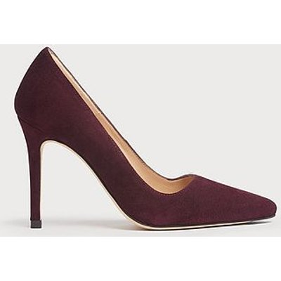 Katie Burgundy Suede Pointed Toe Courts