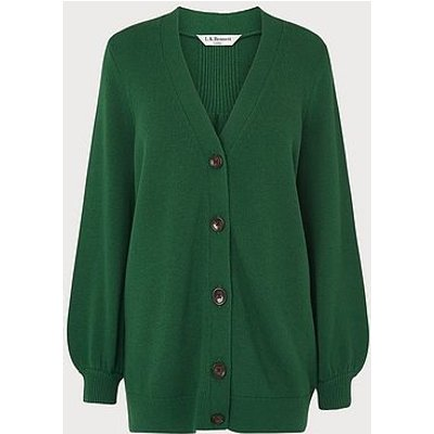 Rosa Green Wool Blend Cardigan
