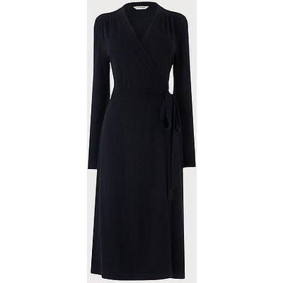 Juliette Navy Merino Wool Wrap Dress, Navy
