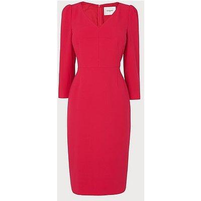 Mai Pink V Neck Dress, Pink