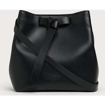 Bella Black Leather Shoulder Bag