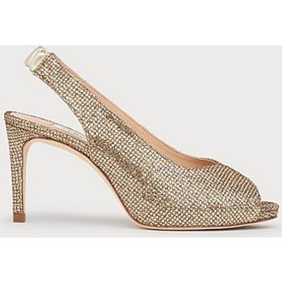 Nicole Gold Lurex Sandals