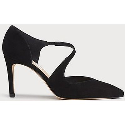 Victoria Black Suede Asymmetric Cut Courts