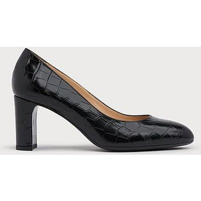 Winola Black Croc Effect Courts