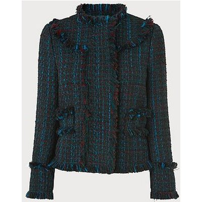 Josie Blue Tweed Jacket
