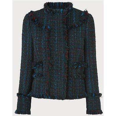 Josie Blue Tweed Jacket, Blue Multi