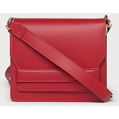 Emma Red Leather Shoulder Bag, Roca Red