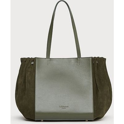 Grace Green Leather Tote Bag