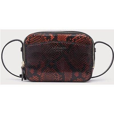 Mariel Merlot Snake Print Shoulder Bag