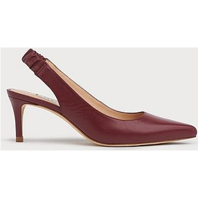 Irena Burgundy Leather Elasticated Slingbacks