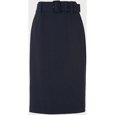 Aimee Navy Crepe Pencil Skirt, Midnight