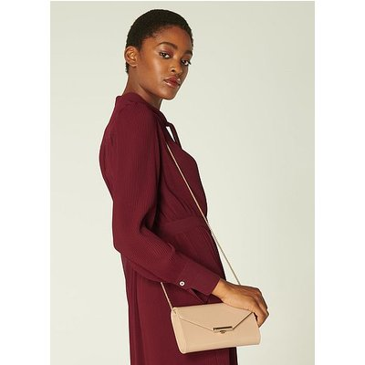 Lucy Nude Patent Clutch, Trench