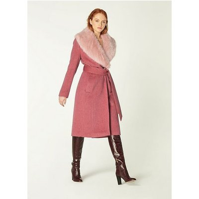 Ava Pale Pink Wool Coat, Pale Pink