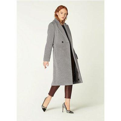Orfeo Grey Wool-Blend Belted Coat, Light Grey