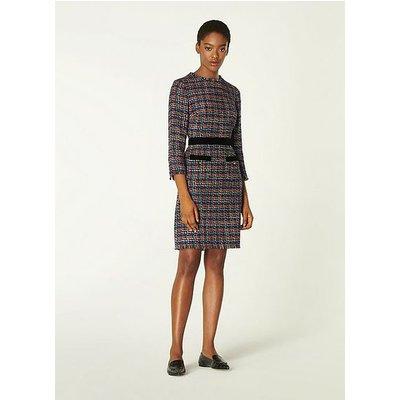 Lucy Multicoloured Tweed Dress, Black