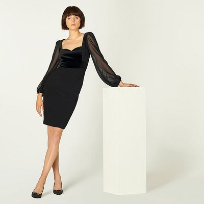 Scarlett Black Cotton Dress, Black