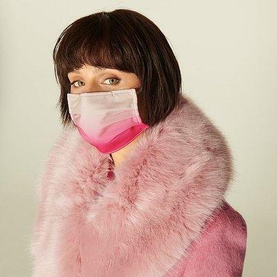 Ombré Pink Graduated Face Mask, Multi
