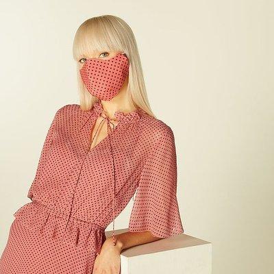Tate Pink Spot Print Face Mask, Pink