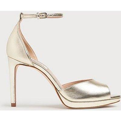 Joyce Soft Gold Metallic Leather Sandals, Soft Gold