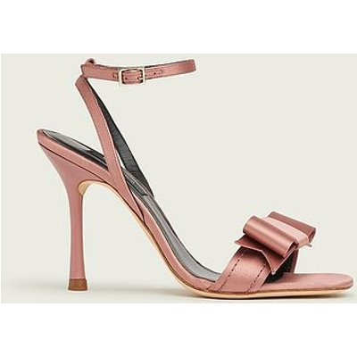 Nancy Bardon Pink Satin Sandals, Pink