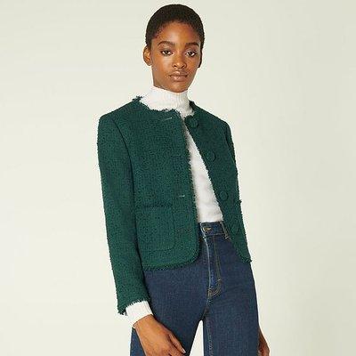 Bernice Green Tweed Jacket, Forest