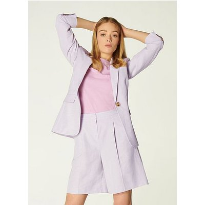 Sweetpea Lilac Linen-Blend Jacket, Lilac