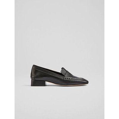 Kate Black Soft Calf Leather Closed Courts, Black