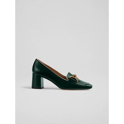 Samantha Green Crinkle Patent Snaffle-Detail Courts, Forest