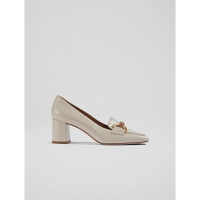 Samantha White Crinkle Patent Snaffle-Detail Courts, White