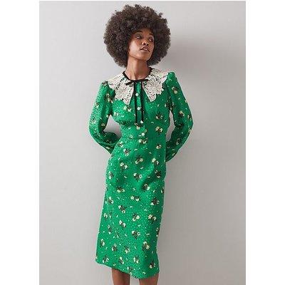 Leila Green Silk Dress, Green